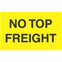 "DL2741""NO TOP FREIGHT"" NEON LABEL 500/RL"