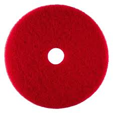 "51-17 17"" - Red - Floor  Buffing Pad - 5/Cs"