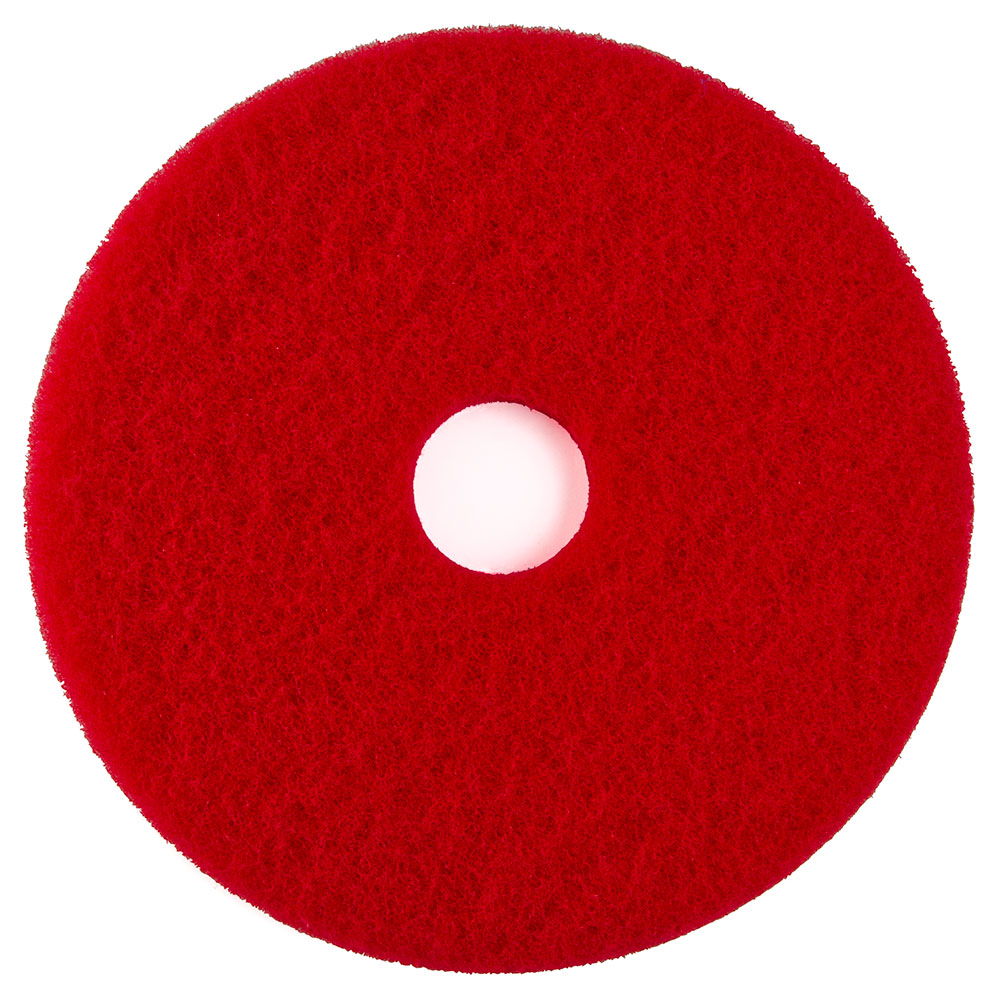 "51-20 20"" - Red - #51 Buffing  Floor Pad - 5/Cs"