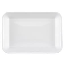 15777 8S WHT FOAM BAKERY TRAY 10X8X.5 500/CS