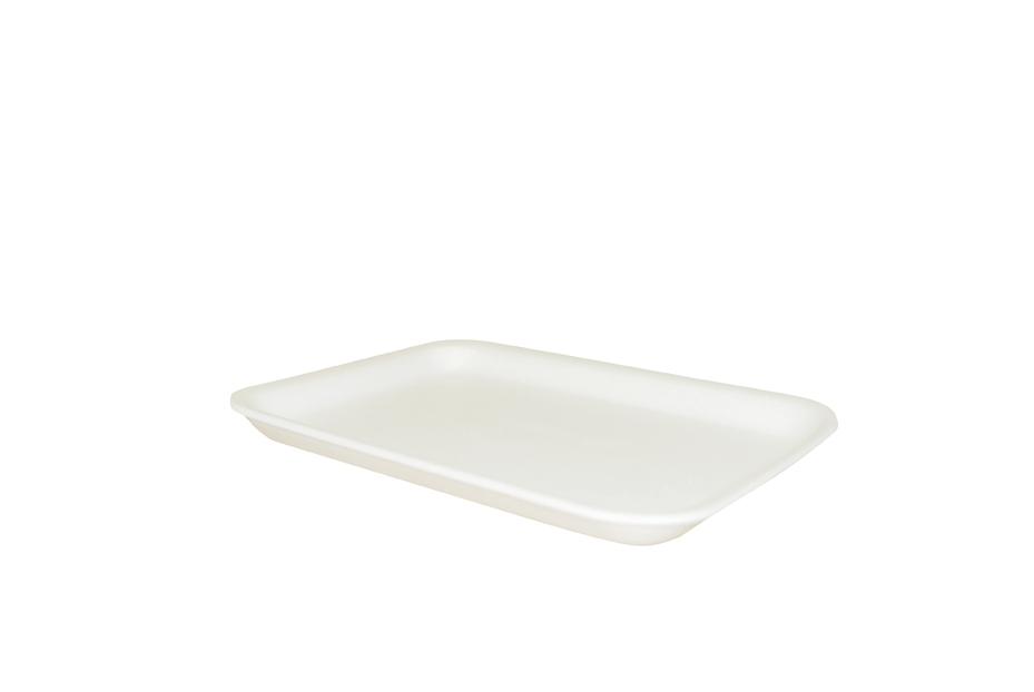 "100072178 (2SW) White Foam  Tray 500/CS 5.75""x8.25""x0.63"""