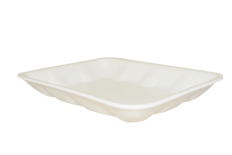 "100072187 (4DW) White Foam  Tray 9.25""x7.25""x1.25"" 500/CS"