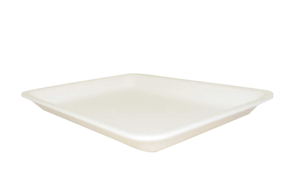 "100072225 (8SW) White Foam  Tray 500/CS 8""x10""x0.63"""