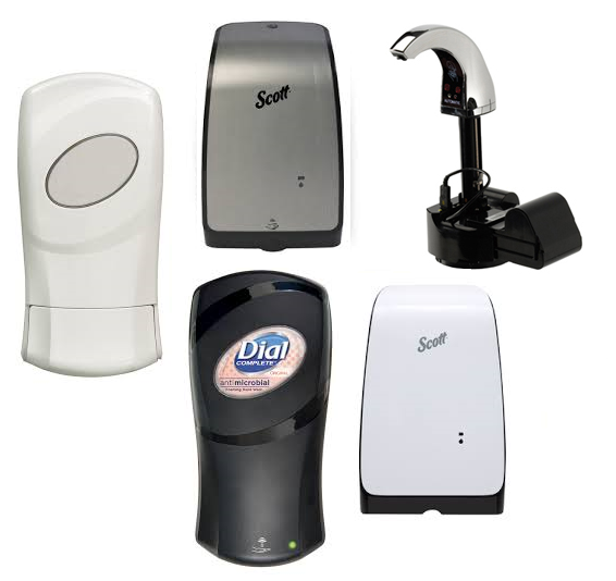 SOAP & SANITIZER DISPENSERS